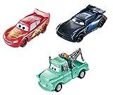 Disney Cars- Saetta McQueen, Mater e Bobby Swift Cambia Colore, Confezione da 3 Giocattolo per Bambini 3+Anni, GPB03