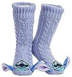 Disney Calze Antiscivolo Invernali Personaggi Mickey Minnie Stitch - Calze a Pantofola Morbide e Confortevole - Calzini Termici - Regalo Donna Ragazza (Stitch)