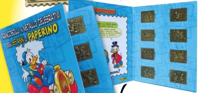 francobolli di Paperino in metallo